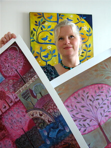 Nicolette Carter in her studio