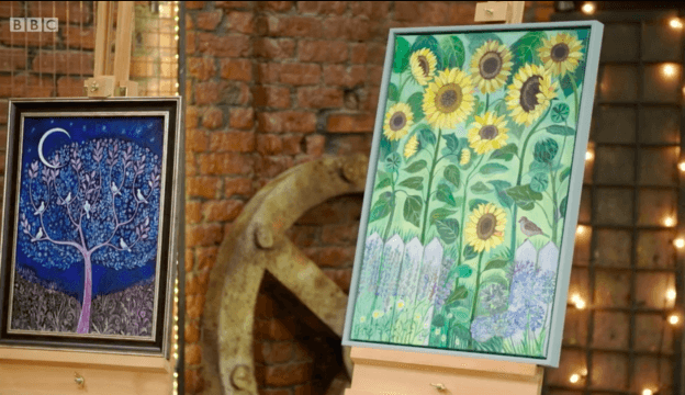 Hand painted frames on the BBC