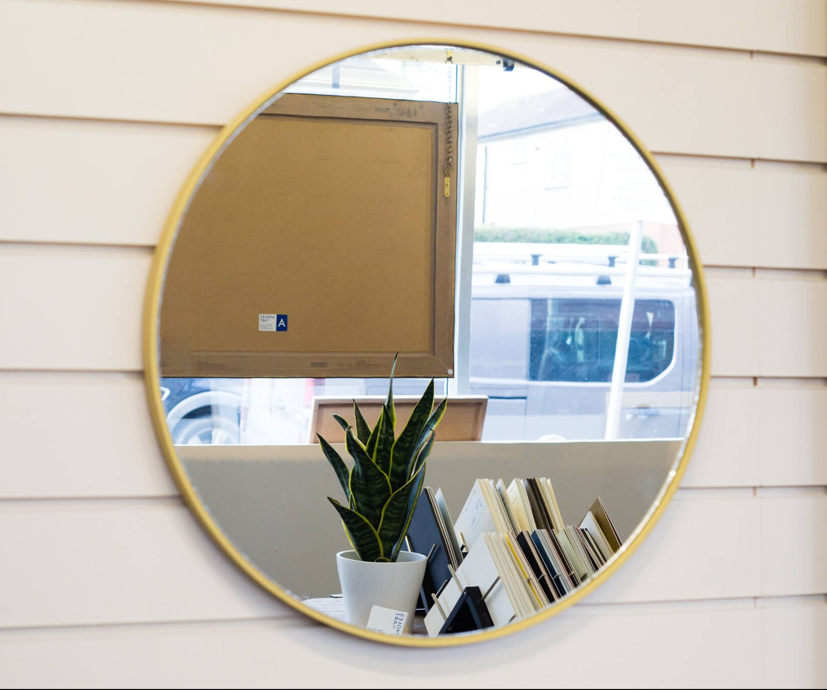 Circular hand crafted mirror made to order